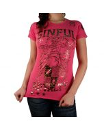 Sinful Burnout Top S2278 Pink