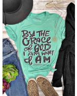 By the Grace of God Tee Mint