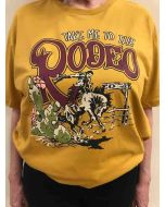 Take Me to the Rodeo Tee A Gold