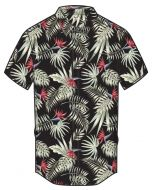 Hurley Exotic Stretch Shirt Black Floral Print