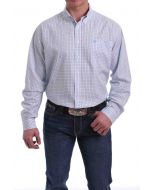 Cinch LSL Button-Down Plaid Shirt White