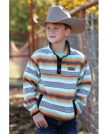 Cinch Boys Fleece Pullover Orange-Teal