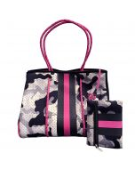 Neoprene Tote Bag Blk-Grey Camo