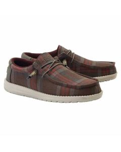 Wally Sox Funk Plaid Choco Red