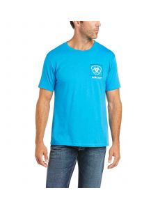 Mens Ariat Linear SSL Tee Turquoise