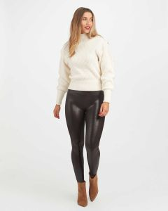 Faux Leather Croc Shine Legging