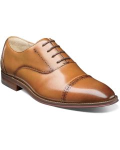 Stacy Adams Cap Toe Barris Tan