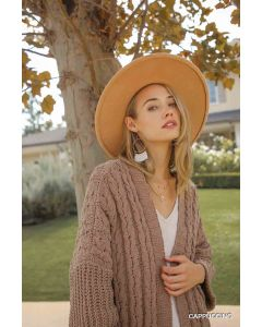Umgee Cable Knit Cardigan