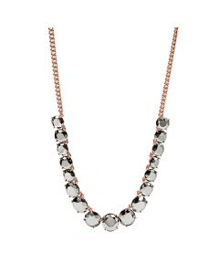 Fossil Gunmetal Prong Necklace