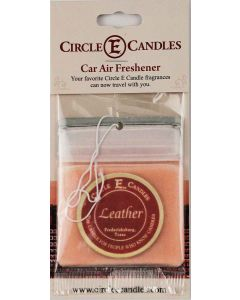 Circle E Car Air Freshener Leather