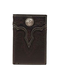 Ariat Trifold Wallet Concho Blk