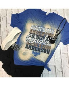 Anderson Owls Repeat V-Neck Royal Spirit Tee