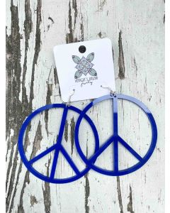 Peace Sign Earrings XL