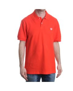 Chaps Solid Orange Polo Shirt