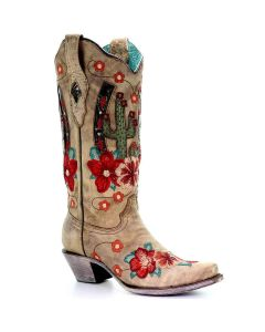 Corral Boots Cactus Embroidery