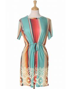 Crazy Train Sand Dune Serape Dress