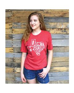 God Bless TX Tee Vintage Red