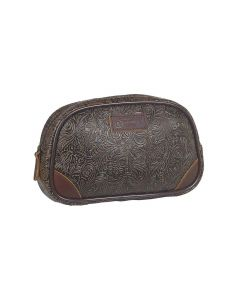 3D Tooled Rounded Travel Bag