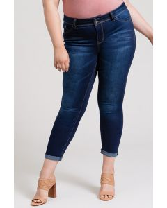 YMI Plus Cuffed Ankle Jeans S02