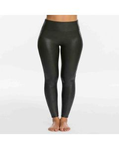 Spanx Petite Faux Leather Leggings Black