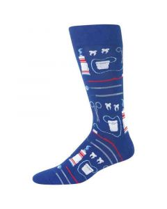 Hotsox Mens Socks Dentist Dark Blue
