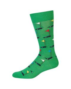 Hotsox Mens Socks Golfer Kelly Green