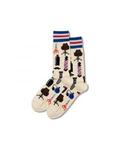 Hotsox Mens Socks Barber Natural