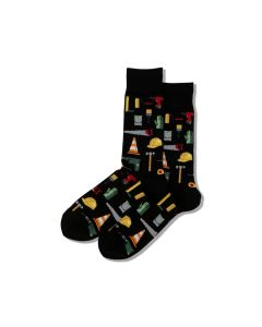 Hotsox Mens Socks Construction Black