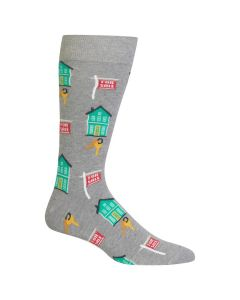 Hotsox Mens Socks Realtor Grey Heather