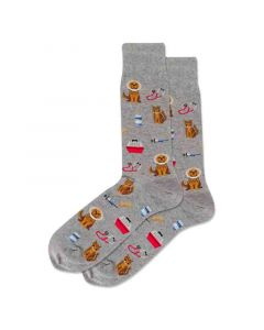 Hotsox Mens Socks Vet Grey Heather