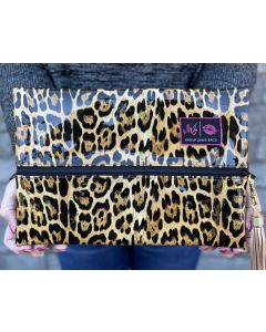 Patent Leopard Cosmetic Bag