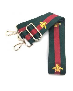 Bag Strap Bee Canvas Green-Red