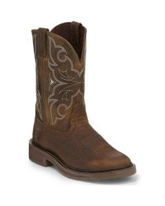 Justin Work Boot Round Toe Chocolate (Soft Toe)