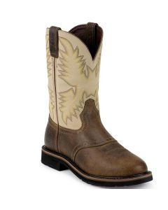 Justin Work Boots Superintendent Creme Soft Toe