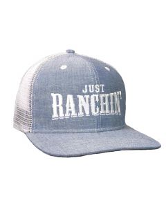 Just Ranchin Denim Mesh Hat