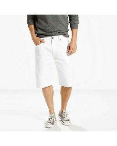 Levis 569 Shorts White Bull Denim