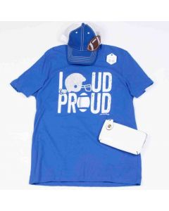 Loud and Proud Tee Royal Blue Size Large