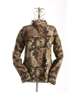 Camo Print Top Embroidered Back