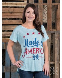 Made in America Bow Blue Tee