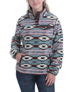 Cinch Fleece Pullover Ocean-Brown