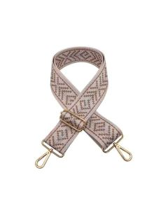 Jen and Co Guitar Strap Boho Taupe