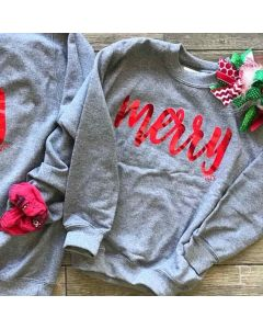 Kids Merry Foil Sweatshirt