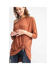 Mineral Wash Solid Dolman Top +