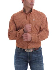 Cinch Shirt Print LSL Brown