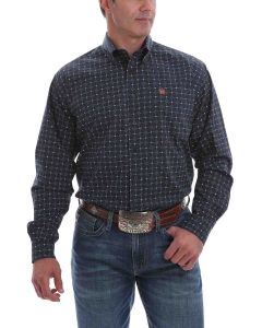 Cinch Shirt Print LSL Navy