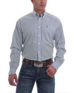 Cinch Shirt Print LSL Light Blue