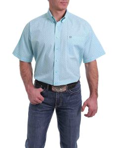 Cinch SSL Print BD Shirt Light Blue
