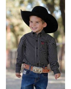 Toddler Cinch Print LS Black
