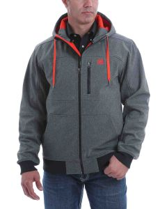 Cinch Char-Ornge Hooded Bonded Jacket