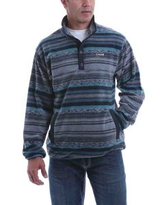 Cinch Fleece Pullover Navy-Tan